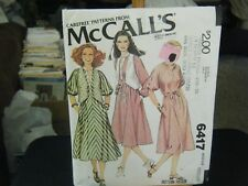 McCall's 6417 Misses Dress & Vest Pattern - Size M (14-16) Bust 36-38