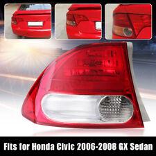 New Left Tail Light Brake Lamp Red Clear Lens For Honda Civic Sedan GX 2006-11