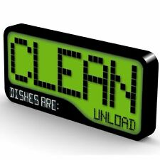 Reversible Double Sided Clean Dirty Dishwasher Magnet - Super Strong Durable