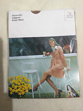 "Vintage Tan Brown Maternity Support Tights XL2 5'2-5""5' 1960s 70s old stock New"