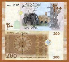 Syria, 200 pounds, 2009 (2010), P-114, A-prefix, UNC