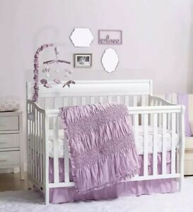 Lilac Kisses 3 Piece Crib Bedding Collection From The Peanutshell