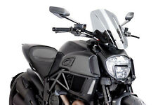 SAUTE VENT NAKED N.G. TOURING PUIG DUCATI DIAVEL 2014 FUME CLAIR