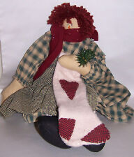 Victoria's Country Home Cloth Doll with Gingham Dress, by Victoria's Garden, Nwt