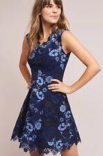NWT Anthropologie Shoshanna Blue Garden Lace Dress Size 4 Petite