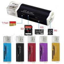 Mini All in 1 USB 2.0 Multi Memory Card Reader For Micro SD SDHC TF Pro DUO New