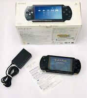 Sony PSP 1000 Customized firmware 6.61 Custom Console Black 32GB - Boxed