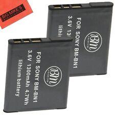 BM NP-BN1 2X Batteries for Sony CyberShot DSC-W530,W560,W570,W610,W620,W650,W690