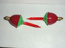 2 Vintage Style Red Bubble Light Replacement Christmas Light Bulbs
