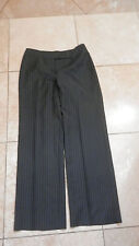 """ANN TAYLOR LOFT """"LAURA"""" Black and White Lined PinStripe  Pants Size 8"""