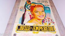 romy schneider LA BELLE ET L'EMPEREUR ! affiche cinema 1960