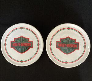 Harley Davidson Drink Ceramic Coasters Set Of 2.