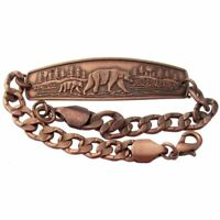 Solid Copper Bracelet Bear Handmade Jewelry Chain Arthritis Pain Relief Therapy
