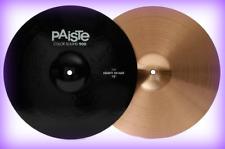 """PAISTE Color sound 900 Top Heavy Hi Hat Cymbal Black 15""""  Pair #4524"""