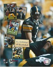 BEN ROETHLISBERGER PITTSBURGH STEELERS 8 X 10 PHOTO WITH ULTRA PRO TOPLOADER