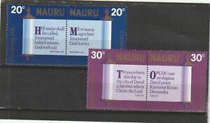 Nauru 1981 Christmas Se-tenant Set MNH