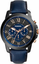 Men's Fossil Grant Chronograph Leather Strap Watch FS5061