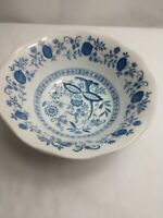 """Blue Onion Enoch Wedgwood Serving Bowl 8.5"""" Vintage Made in England"""