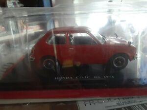 HONDA Civic RS 1974 - 1/24 Deluxe Hachette Collection Auto Vintage.