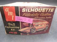 AMT 2162 SH2 SILHOUETTE W/TRAILER VINTAGE 1/25 MODEL CAR MOUNTAIN