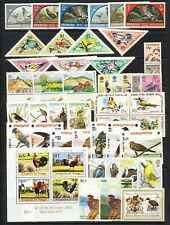 Birds on stamps mnh sets, sheets with old triangle Mongolia,Pakistan,BIOT  80.00