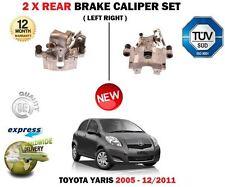 FOR TOYOTA YARIS VITZ VVTi + D4D 2005-2011 2X REAR LEFT RIGHT BRAKE CALIPERS SET