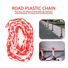 Traffic Safety Warning Chain Plastic Red+White 5 m Sign Car Warning Sign Barrier