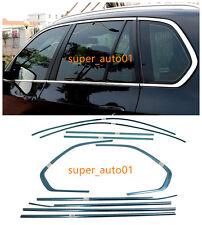 Stainless Steel Bottom Window Frame Sill Trim 10pcs For BMW X5 E70 2008-2013