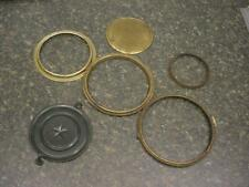 Lot of 6 Brass Bezel Rings Back Dust Cover Doors for Mantle or Wall Clocks  E806