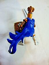 """Medieval Knights Blue Gold Collectible Action Figure Childrens Toy 5"""" Tall"""
