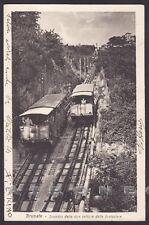 COMO BRUNATE 57 FUNICOLARE SCAMBIO TRENO Cartolina viaggiata 1928