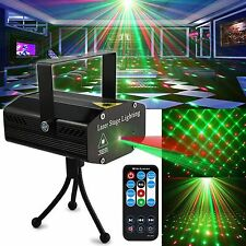Party Light Dj Disco Lights Stage Lighting Projector w/Remote Black New