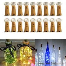 10-50X Lots 20Leds Cork Shaped String Light Starry Light Bottle Lamp W/battery