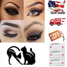 2 pcs Cat Eyeliner Stencil Matte PVC Material Repeatable Use Smokey Eye Stencil