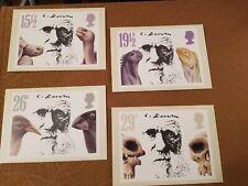 ROYAL MAIL POSTCARDS: (4) 1982 CHARLES DARWIN STAMP CARDS