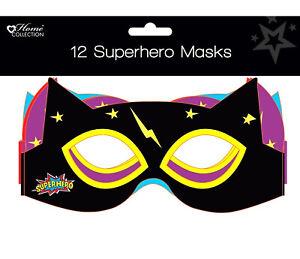 Children's Superhero Birthday Party Supplies Invites Decorations Loot Bags Masks
