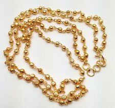 Indian Jewellery Asian Wedding Ethnic Wear Gold Plated Double Mala Necklace