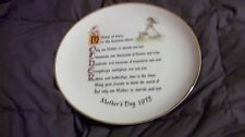 Collectible Holly Hobbie Mothers Day Plate 1973