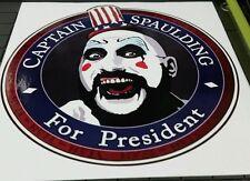 """Captain Spaulding inspired for president House 1000 Sticker Vinyl 5"""" 2016 Zombie"""