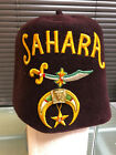 Vintage (VERY OLD) SAHARA Shriner's Fez Hat Lou Walt Corp New York - 7 1/8