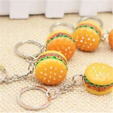 Fashion Cute Colorful Healthy Fast Food Hamburger Shaped Key Chain Key Ring