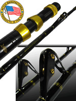 Big Game Fishing 7' Composite 60kg Trolling Rod USA AFTCO Roller GUIDES & BUTT