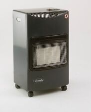 Season Warmth Gloss Black / Gray Mobile Cabinet Heater Mobile Calor gas Heater