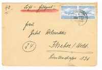 Luft Feldpost Brief, mit ZulM 1  A, waagrechtes Paar, helles blau, selten