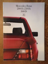 MERCEDES BENZ 200D 250D 300D SALOONS 1984 1985 UK Mkt Sales Brochure - W124