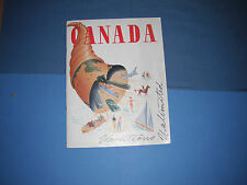 1950's Canada Vacations Unlimited Book Magazine Canadian Travel Photos & Info