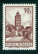 1972 City Hall Clock Tower,Sibiu,Hermannstadt,Definitives,Architecture,Romania**