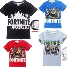 Fortnite Boys Girl's Short Sleeve T-Shirts 100% Cotton Tops tshirts Clothes New