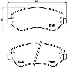 Brake Pad Set, disc brake A.B.S. P37007