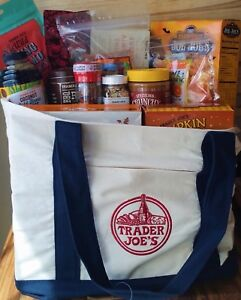 8 Pack Trader Joe's Canvas Tote Bag Heavy Duty Eco Reusable Fashion Grocery bags